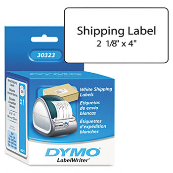 Dymo 30323 (SLPSRL) Self-Stick Shipping Labels, White 2 1/8 x 4 In., 220/Roll - 1 Roll Per Box printer supplies by Dymo