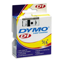 DYMO 40910 Label Machine Tape, 3/8 In, Black on Clear printer supplies by Dymo