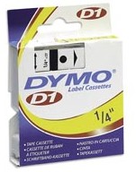 Dymo 43610 Label Machine Tape, 1/4 In, Black on Clear printer supplies by Dymo