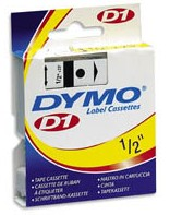 Dymo 45010 Label Machine Tape, 1/2 In, Black on Clear printer supplies by Dymo