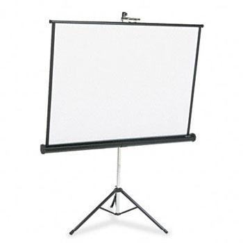 Portable Tripod Projection Screen, 50 x 50, White Matte, Black Steel Case printer supplies by Apollo