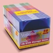 Verbatim 94178 CD & DVD Colored 50/Pack Slim Cases printer supplies by Verbatim