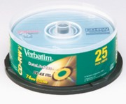 Verbatim 94222 DataLifePlus CD-RW 2X-4X 25/Pack Spindle printer supplies by Verbatim