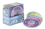 Verbatim 94335 Pocket Colors CD-R 32X 21 Minute 185MB 10/Pack in Slim Cases printer supplies by Verbatim