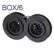 Nu-kote B228 Black Nylon Printer Ribbons, Box/6 printer supplies by Nu-Kote