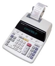 Sharp EL2192R 12-Digit/2-Color Desktop Calculator printer supplies by Sharp