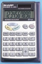 Sharp EL-480SRB Business Calculator with Wallet printer supplies by Sharp