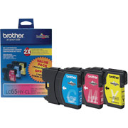 Genuine Brother LC65 Color Ink Cartridges 3 Pack  Brother LC653PKS printer supplies by Brother
