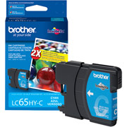 Genuine Brother LC65 Cyan Ink Cartridge Brother LC65HYC printer supplies by Brother
