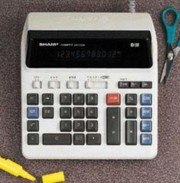 Sharp QS2122H Commercial Desktop Calculator printer supplies by Sharp