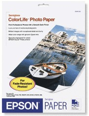 Epson S041500 ColorLife™ Photo Paper, 8.5  x 11, 20 sheets/Box printer supplies by Epson
