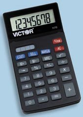 Victor 1170 Handheld Business Calculator with Slide Case printer supplies by Victor