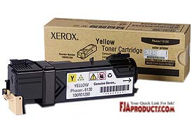 Xerox Phaser 6130 Yellow Toner 106R01280 printer supplies by Xerox