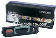 Lexmark 12A8300 Black Toner Cartridge printer supplies by Lexmark