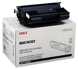 Okidata B6300 Toner Cartridge Oki 52114502 Hi Capacity Toner (17000 Pages) printer supplies by Okidata