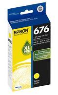 Genuine Epson T676XL420 Yellow Ink (aka T676XL Yellow) printer supplies by Epson