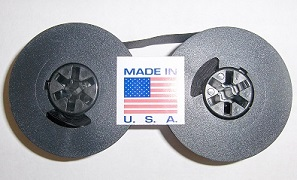 Universal Typewriter Ribbon - 1/2 Inch Black Ink Twin Spool Fresh and New Fabric Ribbon with Eyelets printer supplies by FJA