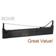 Compatible 8767 Nylon Black Printer Ribbons, Box/6 printer supplies by Epson