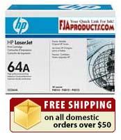 HP CC364A Black Print Cartridge HP 64A printer supplies by HP