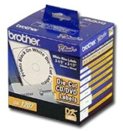 Brother DK1207 CD/DVD Film Labels, 100/Roll printer supplies by Brother