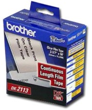 Brother DK2113 Continuous Clear Film Label, 50 Feet printer supplies by Brother