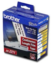 Brother DK2211 Continuous White Film Label printer supplies by Brother