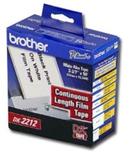 Brother DK2212 Continuous Length White Film Label printer supplies by Brother