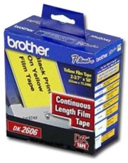 Brother DK2606 Continuous Yellow Film Label printer supplies by Brother