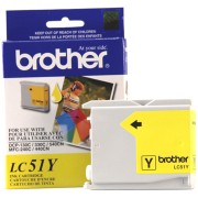 Genuine Brother LC51 Yellow Ink Cartridge printer supplies by Brother