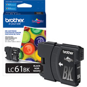 Genuine Brother LC61 Black Ink Cartridge printer supplies by Brother