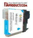 Brother LC61 Cyan Ink Cartridge aka LC61C printer supplies by Brother