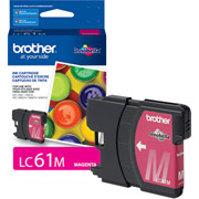 Genuine Brother LC61 Magenta Ink Cartridge Brother LC61M printer supplies by Brother
