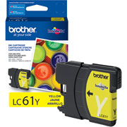 Genuine Brother LC61 Yellow Ink Cartridge Brother LC61Y printer supplies by Brother