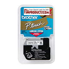 Genuine Brother M231 1/2 In. Black On White Supply Tape printer supplies by Brother