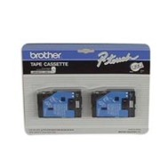 Brother TC10 1/2 In. Black On Clear Supply Tape, 2/Pack printer supplies by Brother