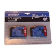 Brother TC21 1/2 In. Red On White Supply Tape, 2/Pack printer supplies by Brother