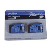 Brother TC22 1/2 In. Blue On White Supply Tape, 2/Pack printer supplies by Brother
