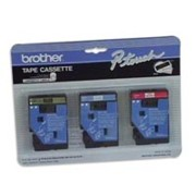 Brother TC40 1/2 In. Supply Tape, 6/Pack, 2- Red On White, 2- Blue On White, 2- Gold On Black printer supplies by Brother