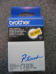 Brother TC40Z1 3/8 In. Black On Orange Supply Tape printer supplies by Brother