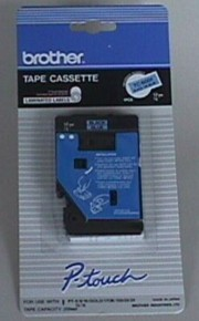 Brother TC6001 1/2 In. Black On Blue Supply Tape printer supplies by Brother