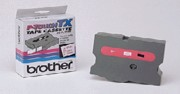 Brother TX2521 1 In. Red On White Supply Tape printer supplies by Brother
