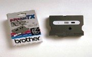 Brother TX3351 1/2 In. White On Black Supply Tape printer supplies by Brother