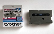 Brother TX-5511 1 In. Black On Blue Supply Tape printer supplies by Brother