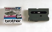 Brother TX7311 1/2 In. Black On Green Supply Tape printer supplies by Brother