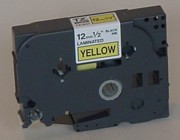 Brother TZ-S631 1/2 In. Black on Yellow Extra Strength Tape printer supplies by Brother