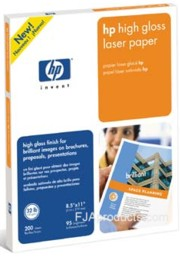 Q2419A LaserJet High Gloss Paper, 8.5x11, 200/Sheets (replaced by Q6545A) printer supplies by HP